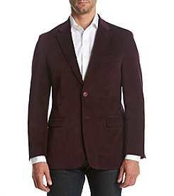 Tommy Hilfiger Men's Burgandy Velvet Sport Coat