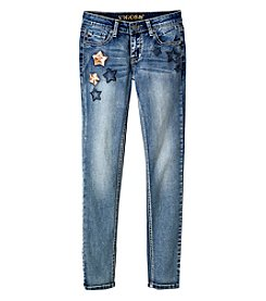 Vigoss® Girls' 7-16 Stars On Leg Skinny Jeans