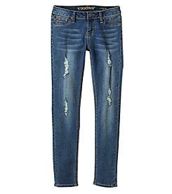 Vigoss® Girls' 7-16 Destructed Convert Jeans