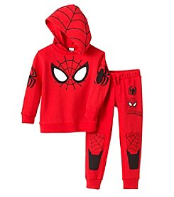 Nannette Boys' 4-7 Knit Hooded Spider-Man Pullover And Pants Set