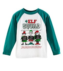 Mix & Match Boys' 2T-7 Elf Squad Long Sleeve Graphic Raglan Tee