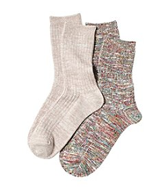 Relativity® Multi Marled Crew Socks