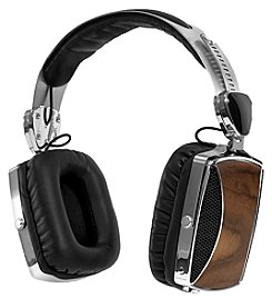 Victrola™ Wood and Chrome Rechargeable Bluetooth Headphones