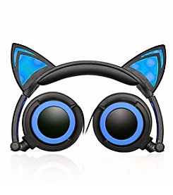 Jamsonic LED Light-Up Foldable Cat Ear Headphones