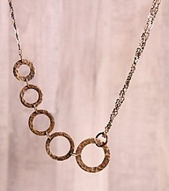 Tactile Melodies Rings Copper Necklace