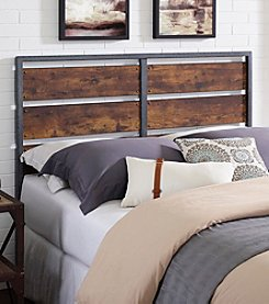 W. Designs Queen Size Metal and Wood Plank Panel Headboard