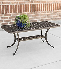 W. Designs Cast Aluminum Wicker-Style Coffee Table