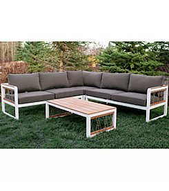 W. Designs 4-Piece Outdoor Sectional with Cord Accents
