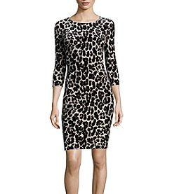 Nicole Miller New York Leopard Print Sheath Dress
