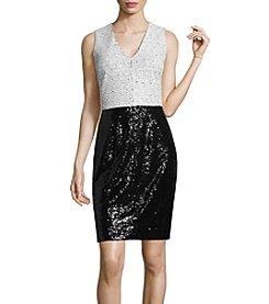 Nicole Miller Studio Sleeveless Sequin Dress