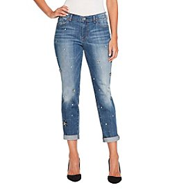 Jessica Simpson Jewel Detail Ankle Jeans