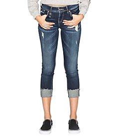 Silver Jeans Co. Kenni Destructed Raw Edge Cuff Jeans