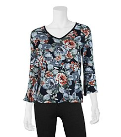 A. Byer Floral Tie Back Top
