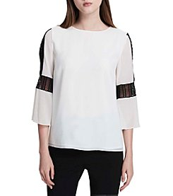 Calvin Klein Bell Sleeve With Lace Top