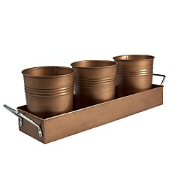 Artland® Oasis Picnic Antique Copper Caddy and Planter Set