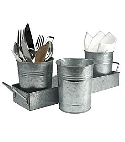Artland® Oasis Picnic Galvanized Steel Caddy and Planter Set