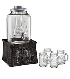 Artland® Masonware Beverage Jar with Chiller and Infuser Mason Jar Set