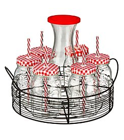 Artland® Gingham Beverage Caddy with Carafe
