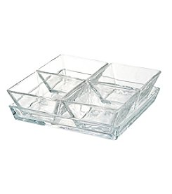 Artland® Cortland 4 Glass Bowls with Glass Tray