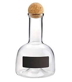 Artland® Wine Bar Decanter with Chalkboard and Cork Ball Stopper in Wood Crate