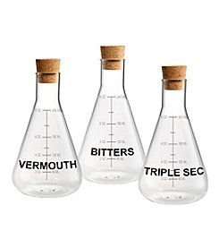 Artland® Home Mixology Set of 3 Mixer Decanters with Wood Crate Gift Box