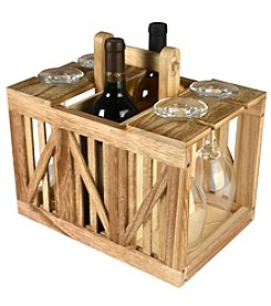 Artland® Home Mixology Wine Caddy Wood Crate