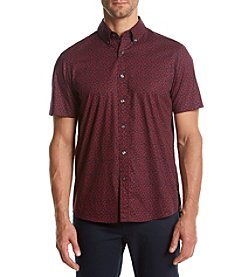 Michael Kors® Men's Short Sleeve Rose Print Button Down