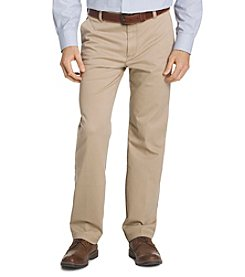 IZOD® Big & Tall Performance Straight-Fit Flat Front Chinos