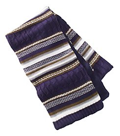 John Bartlett Statements Striped Knit Scarf