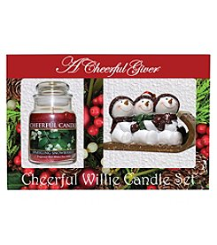 A Cheerful Giver Sparkling Snowberries Candle Set