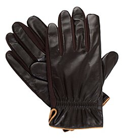 Isotoner Signature Men's Smartouch Leather Gloves