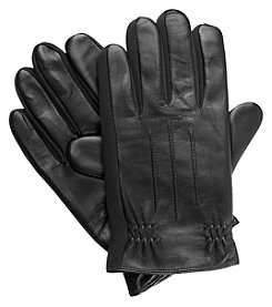 Isotoner Signature Men's Sleekheat Stretch Leather Gloves