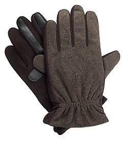 Isotoner Signature Men's Smartouch Tweed Gloves