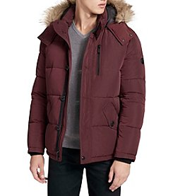Calvin Klein Men's Faux Fur Puffer Hooded Jacket