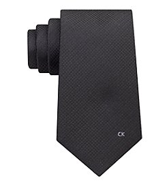 Calvin Klein Men's Simple Houndstooth Logo Tie