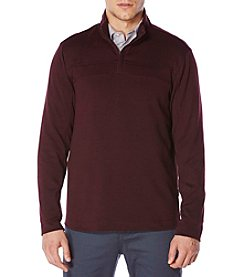 Perry Ellis® Men's Long Sleeve Zip Pullover