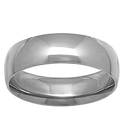10K White Gold Polished 6MM Comfort Fit Wedding Band