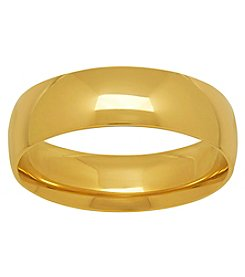 10K Yellow Gold Polished 6MM Comfort Fit Wedding Band