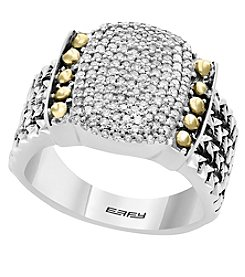 Effy® 925 Collection Sterling Silver And 18K Gold .39 Ct. T.W. Diamond Ring