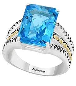 Effy® 925 Collection Sterling Silver and 18K Gold Blue Topaz Ring
