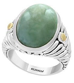 Effy® 925 Collection Sterling Silver 18K Gold Jade Ring