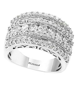 Effy 14k White Gold 1 99 Ct T W Diamond Ring