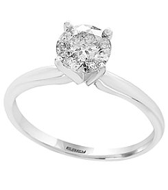 Effy® 14K White Gold .98 Ct. T.W. Solitare Diamond Ring
