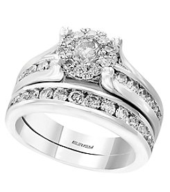 Effy® 14K White Gold 1.48 Ct. T.W. Diamond Two Piece Wedding Set