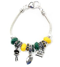 L&J Accessories NFL® Green Bay Packer Football Charm Bracelet