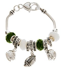 L&J Accessories NCAA® Michigan State Football Charm Bracelet