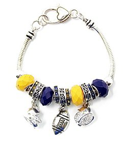 L&J Accessories NCAA® Michigan Football Charm Bracelet