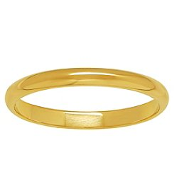 14K Yellow Gold Polished 2MM Light Wedding Band