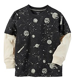 Carter's Boys' 2T-4T Layered-Look Space Graphic Tee