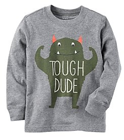 Carter's® Boys' 2T-4T Long-Sleeve Tough Dude Graphic Tee
